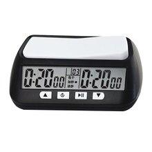 Profissional xadrez relógio digital compacto contagem para baixo temporizador jogo de tabuleiro cronômetro bonus competição medidor de hora