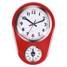 Home Retro Vintage Old Stylish 8.5 Inch Kitchen Time Wall Clock with 60 Minutes Timer Easy to Read(China)