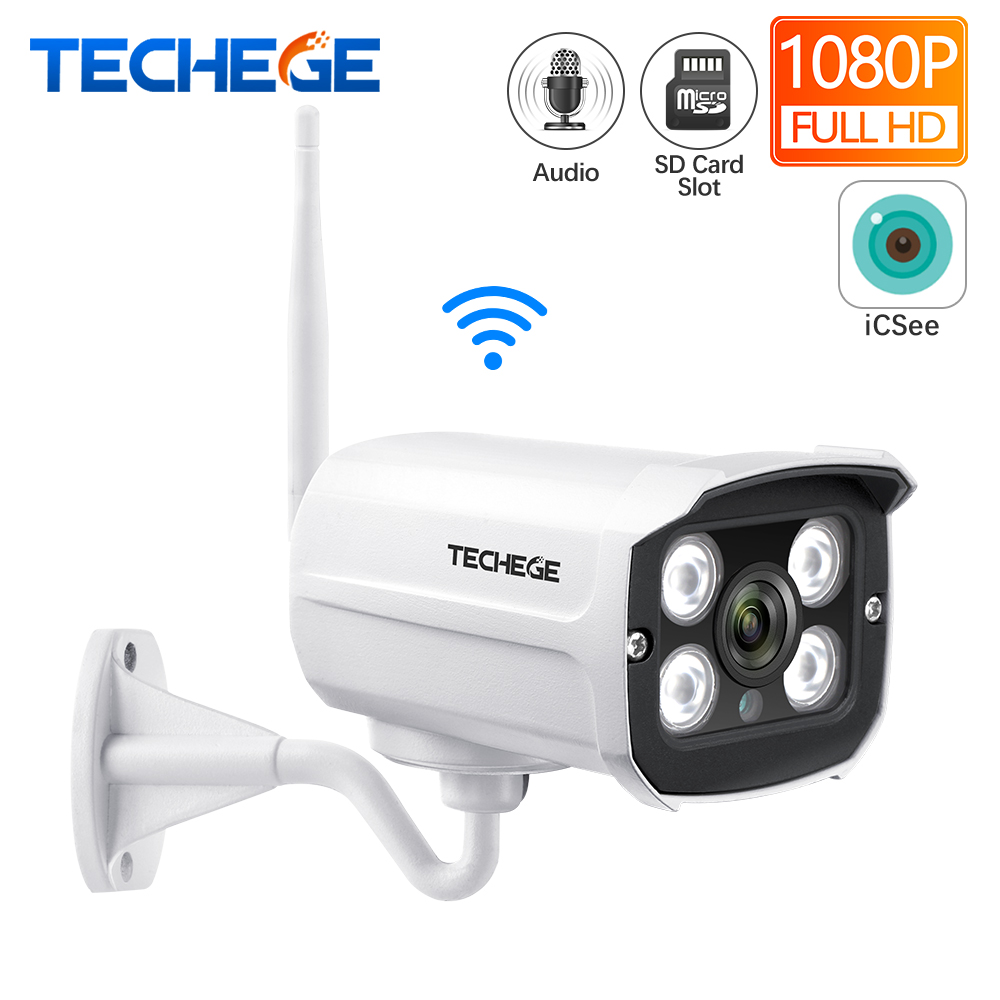 Techege Super HD 5MP IP Camera Wifi CCTV Audio Email Alert Outdoor Wireless Surveillance Onvif Video Security Camera TF Card