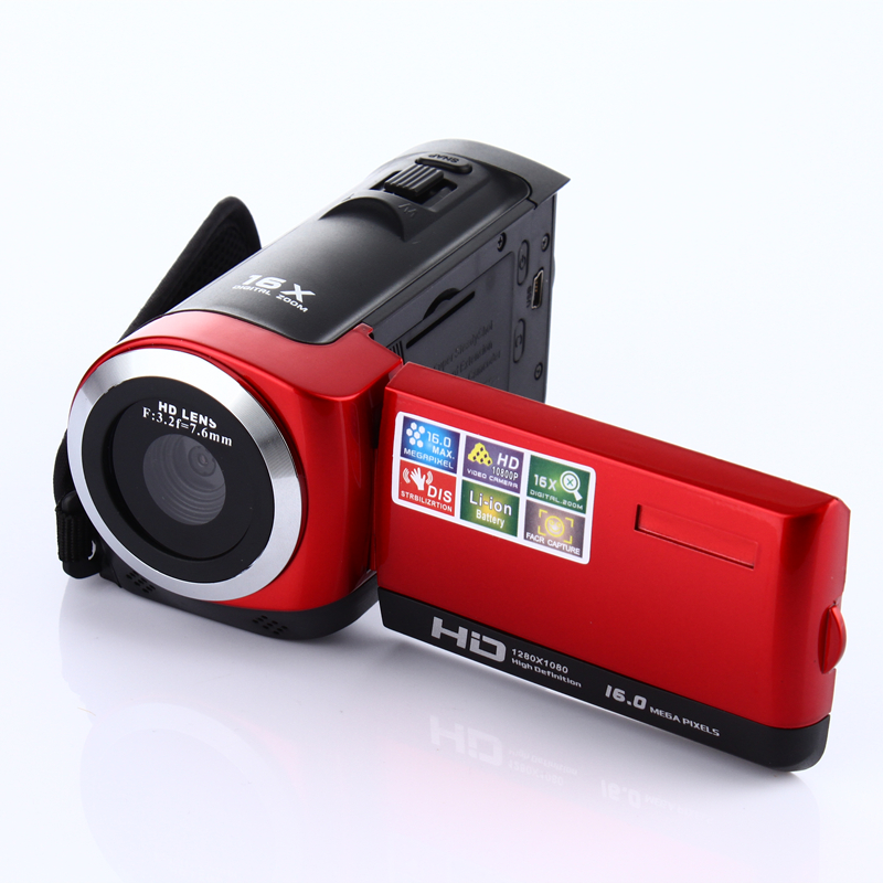 1080P Цифровая камера HDV видеокамера 16MP 16x зум COMS сенсор 270 градусов 2,7 дюймов TFT ЖК-экран