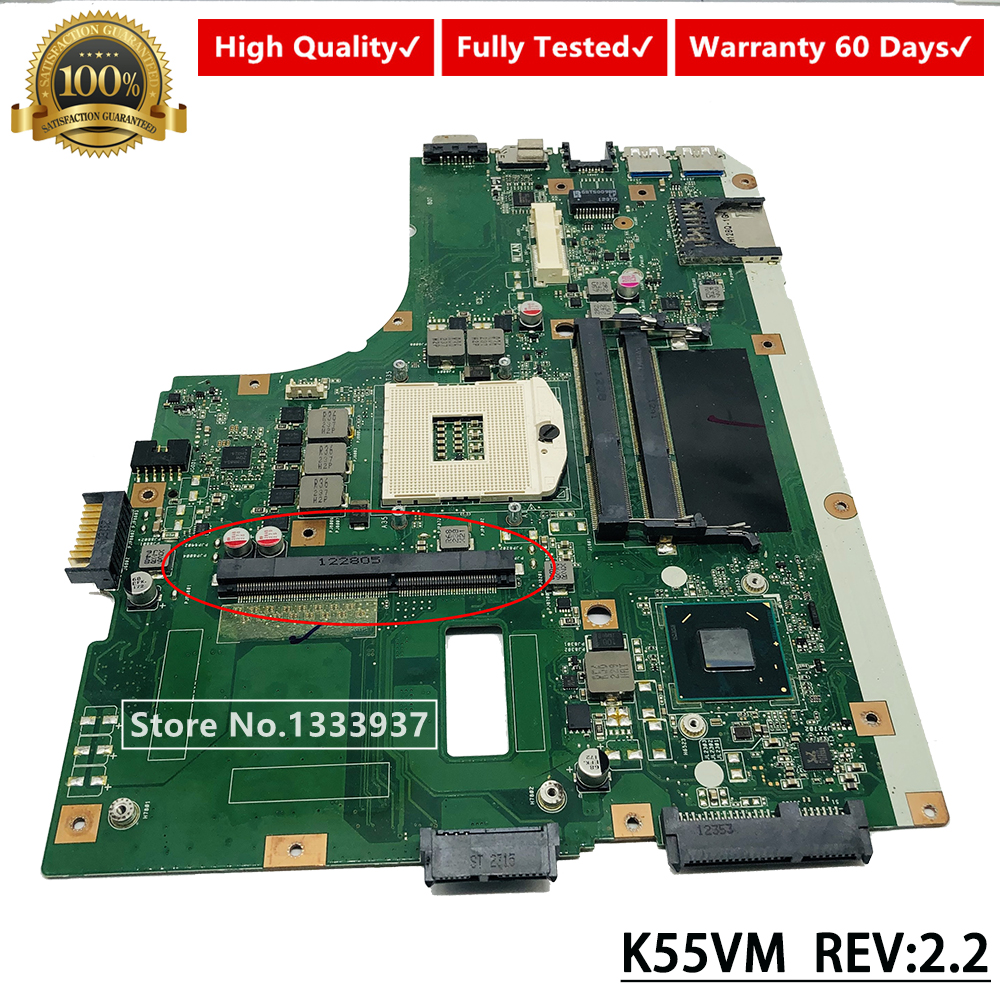 For ASUS K55VJ K55VM Laptop motherboard REV.2.2//REV.2.3 mainboard work perfect