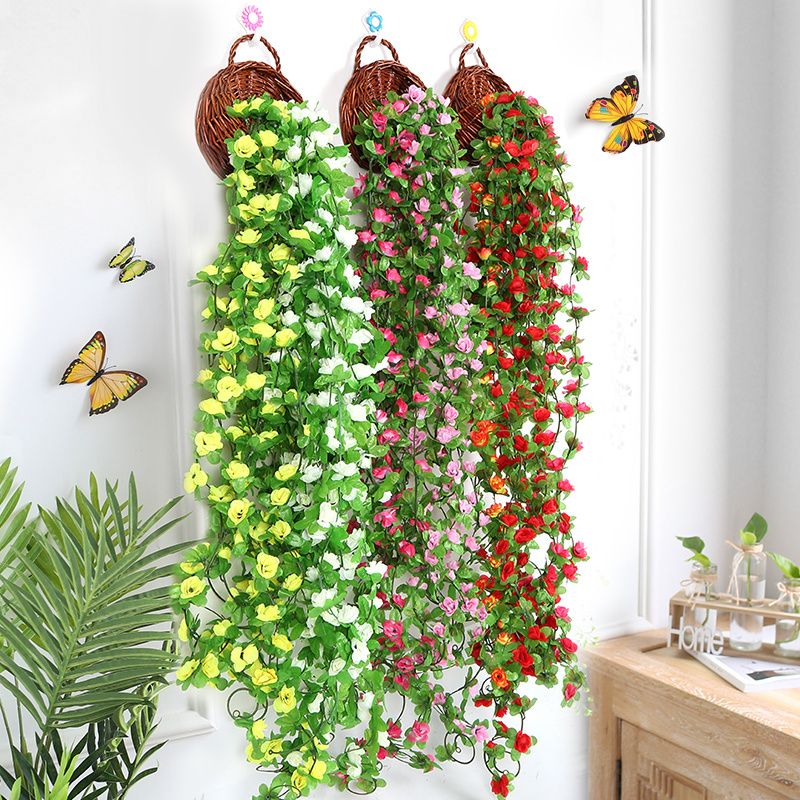 Garland Decoration-Supplies Vine Flower-String Orchids Hanging Artificial-Flower Wedding-Party title=