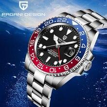 40mm PAGANI DESIGN Sapphire Crystal GMT Automatic Machinery Movement Luminous Men's Watches