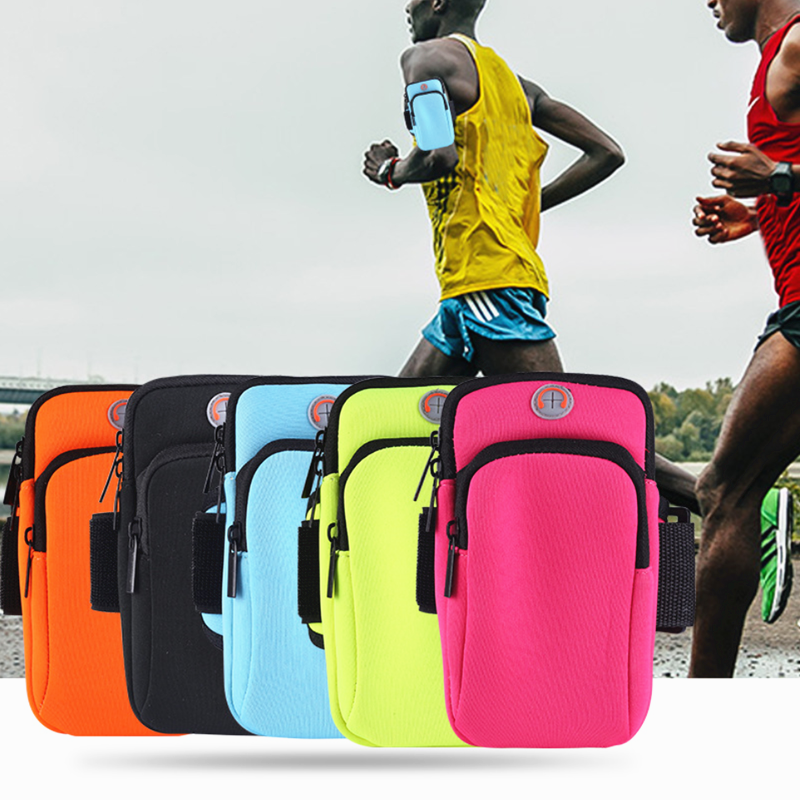Men Women Waterproof Arm Bags Package Bag With Headset Hole Running Bag Sports Portable Bag Hold Water Cycling Phone Bag