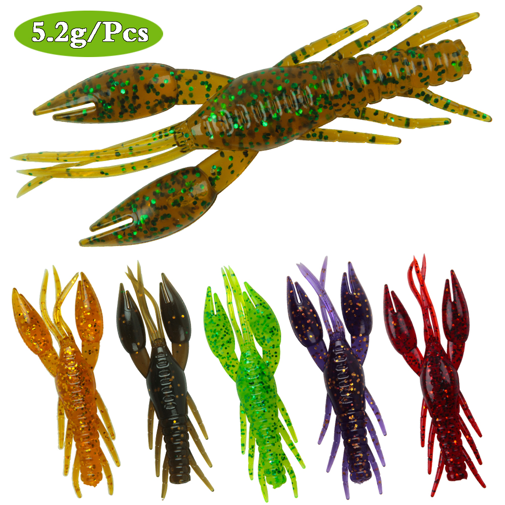 Bass Fishing Lure Bait Soft Crawfish Floating NEW 4pcs as one set