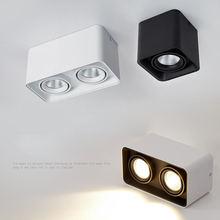 Квадратный светодиодный настенный светильник с регулируемой