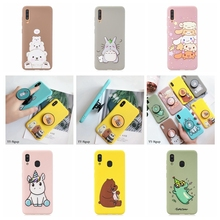 A50 Kawaii Case for Samsung A30 A70 Phone Unicorn Stand Holder Silicone Cover Galaxy A40 A60 A80 Cases