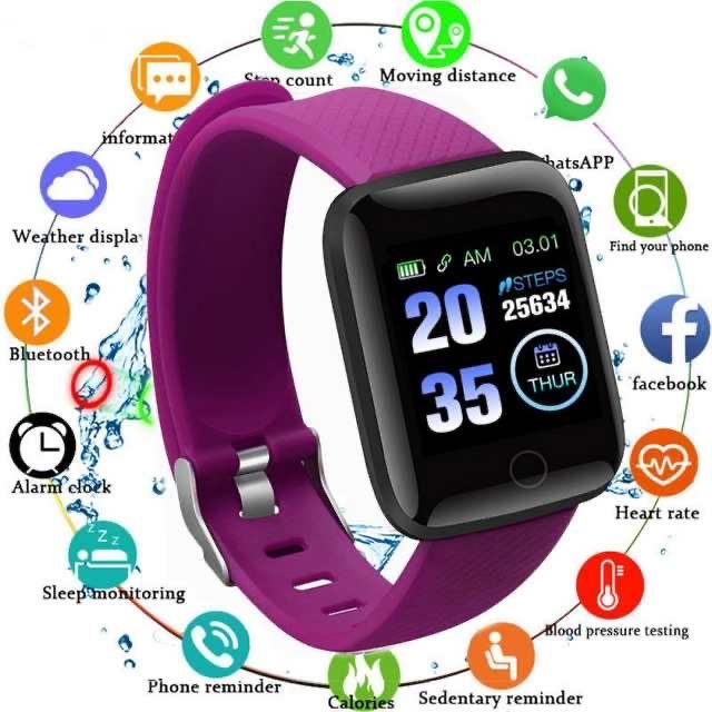 1.3 Inch D13 Smart Bracelet Smart Watch Monitor Blood Pressure Heart Rate Calories Fitness Consumption IPX7 Waterproof For Women