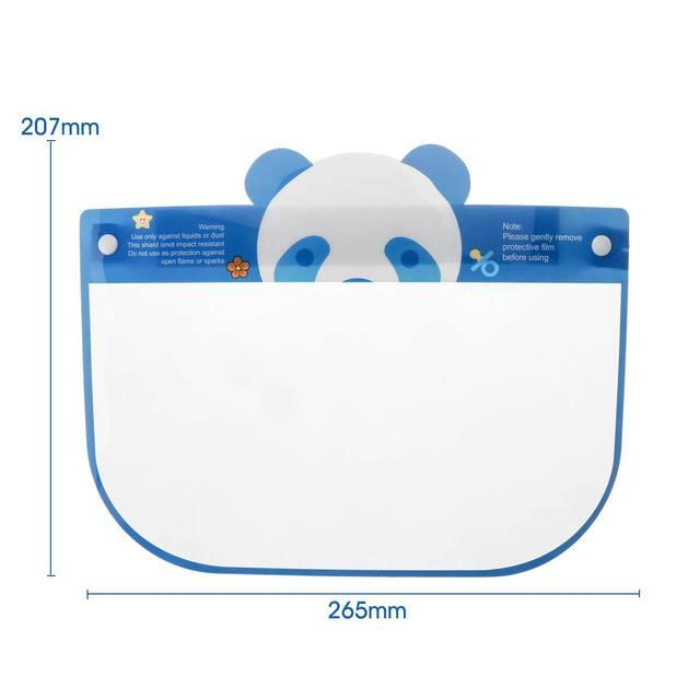5PCS Kids Full Face Shield Mask Transparent Protective Visor Face Mask Plastic Anti Splash Anti saliva Dustproof Full Face Cover 5