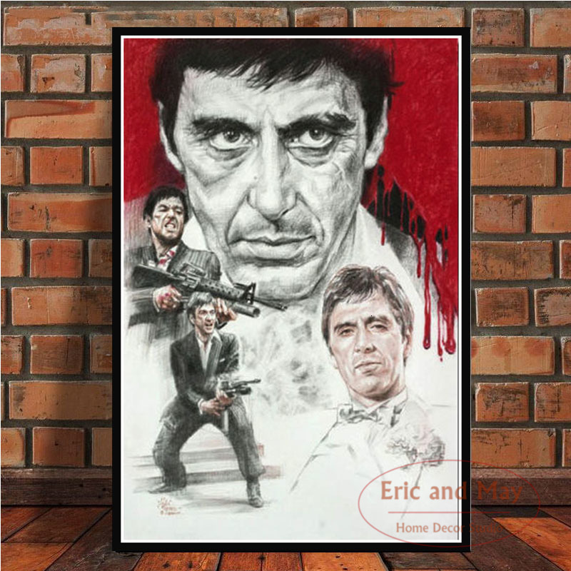 AL PACINO Gangster Movie Art Poster Canvas Painting Wall Picture For Home Decor Posters and Prints image