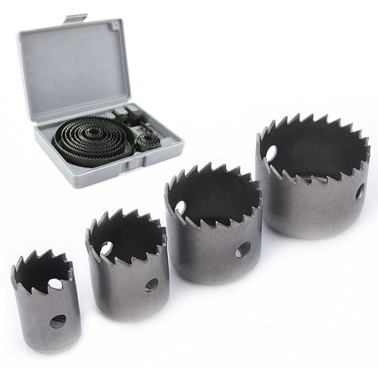 Hole Saw Cutting Set Kit Drilling Tool Wood Metal Cutter 19-127mm High Quality Mandrels Saws Core Drill Bits Woodworking