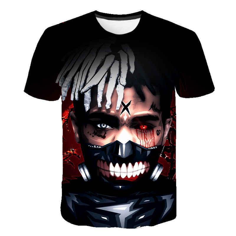 2020 새로운 xxxtentacion t 셔츠 남성/여성 패션 streetwear 힙합 스타일 raper xxxtentacion 3d 인쇄 남성 t-셔츠 cool tops tee