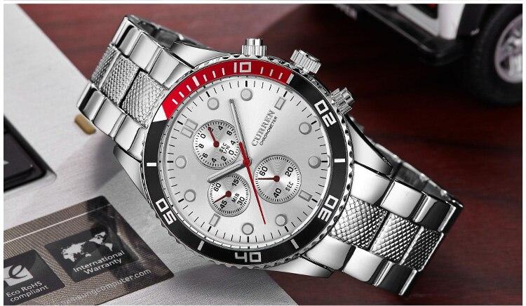 CURREN Military Mens Watches Steel Strap Waterproof Sport Watch Men Top Brand Luxury Quartz Clock Male Analog Relogio Masculino