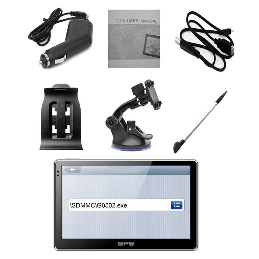 Автомобили 5-дюймовый Высокое разрешение Bluetooth gps-навигатор Портативный резистивный Сенсорный экран gps навигатор для автомобиля, грузовика, ...