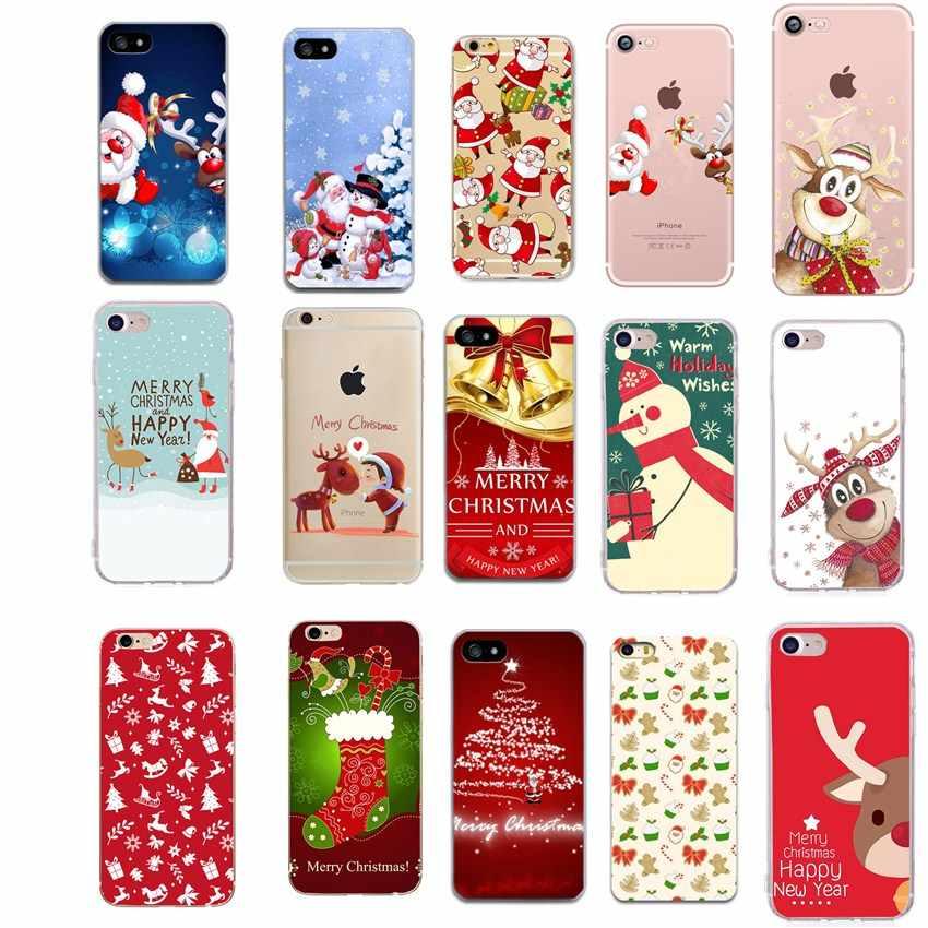 Case Voor iphone 6 S Vrolijk Kerstfeest Gevallen telefoon case Voor iphone Xs MAX XR X 6 6s 7 8 plus Mooie Dumbo Candy soft TPU back cover