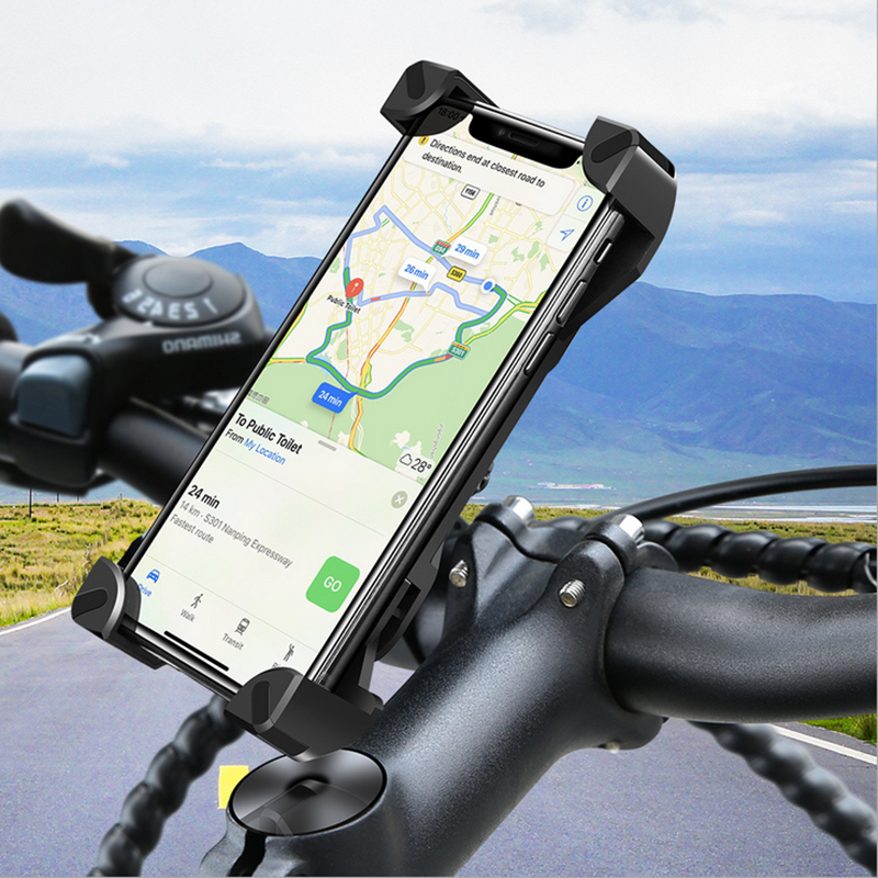 Bicycle Mobile Phone Holder Motorcycle Cellphone Holder Bike Handlebar Clip Stand GPS Mount Bracket Phone Accessories