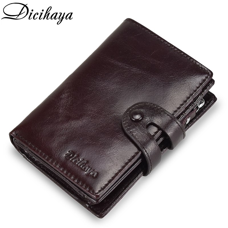 DICIHAYA Brand Wallet  Genuine Leather Men Wallets Coin Purse Short Male Clutch Leather Wallet Mens Money Bag Quality Guarantee