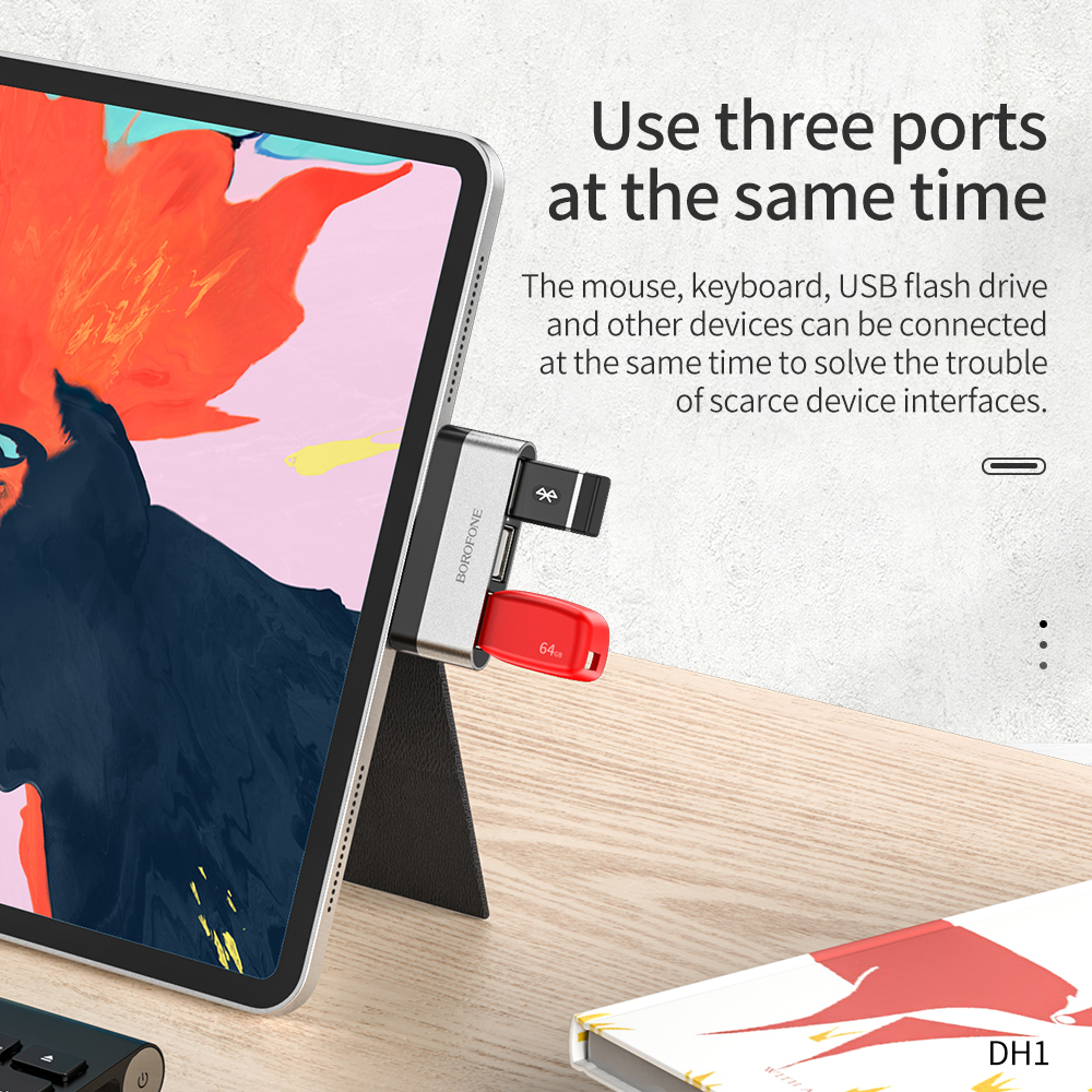 borofone dock station para macbook pro air tipo 01