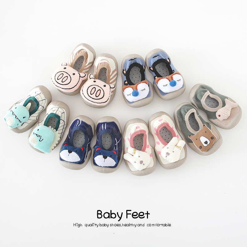 Baby Socks Shoes Cute Animal Summer Rubber Sole Anti-slip Toddler Shoes
