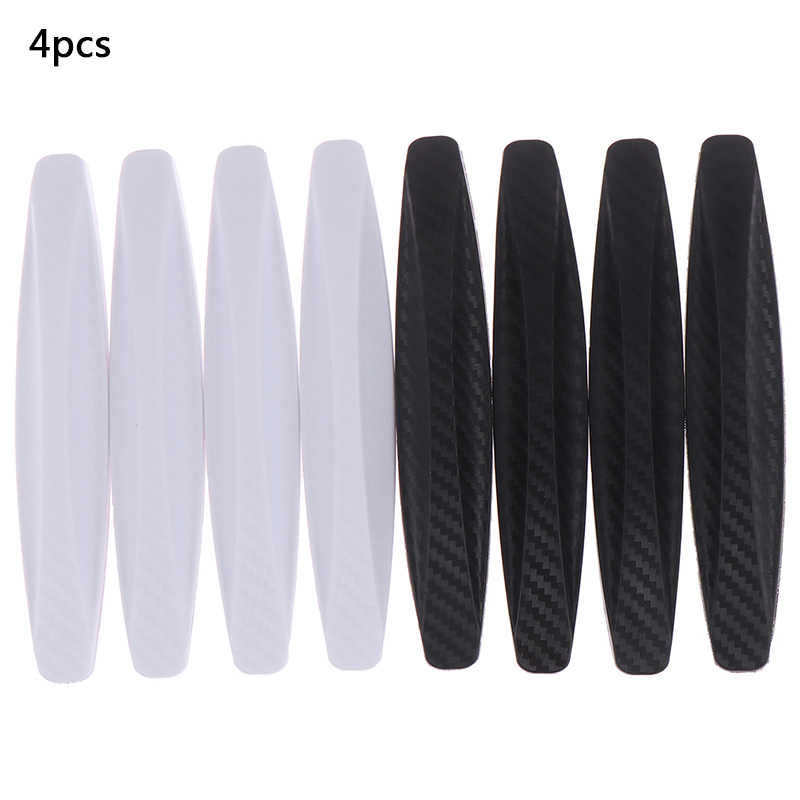 4 Stuks Zwarte Auto Deur Protector Soft Auto Deur Guard Edge Corner Bumper Guard Buffer Molding Protection Strip Auto Styling