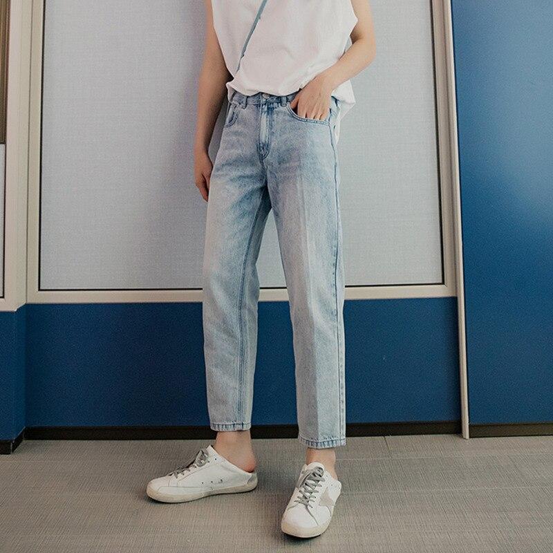 EWQ / Men's Wear Loose Casual Ankle-length Pants For Male 2020 Spring New Denim Korean Trousers Vintage Tide Denim 9Y1960