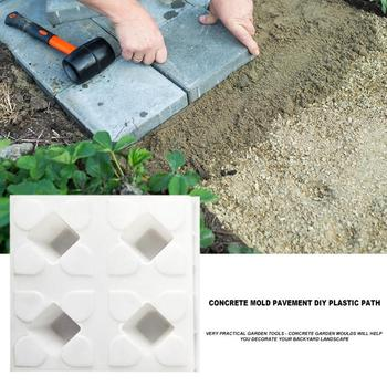DIY Courtyard Road Pavement Stone Mold Path Paving Garden Concrete Brick Mould Use Heavy Plastic Mould Garden Stepping Stone New image