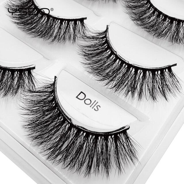 YSDO 5 pairs eyelashes mink strip lashes dramatic eyelashes natural 3d mink eyelashes makeup false eyelashes cilios maquiagem 3