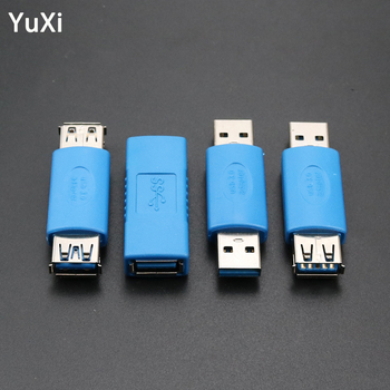 YuXi USB 3.0 A Female to Female Adapter Converter Extension USB 3.0 male To female Connector Plug Connector Usb 3.0 male to male 1 pcs usb 2 0 type a female to a female coupler adapter connector f f converter promotion usb extend jack