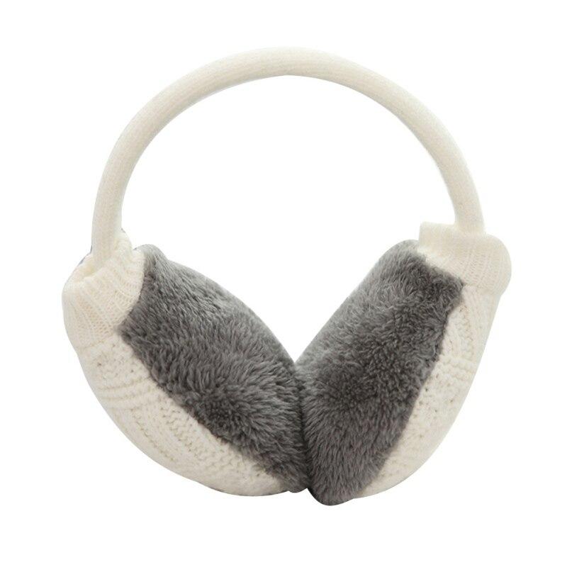 Зимние Наушники унисекс, плотные зимние теплые вязаные наушники для мужчин Wo men s Earflap Earmuffs, съемные плюшевые наушники - Цвет: W