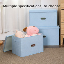 Multiple Models/Brand New/ Large Capacity Cotton Linen Folding Storage Box With Lid Clothing/Toy Storage Household Organization