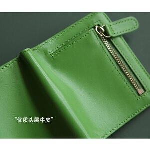 Image 4 - EMMA YAO Original leder brieftasche weibliche mode designer brieftasche frauen