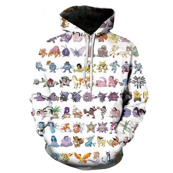 Sudadera de Pikachu de Anime Pokemon para hombres y mujeres, disfraz de Cosplay, sudaderas cálidas, jersey de dibujos animados Unisex, Jersey Casual de marca, Jersey S-6XL