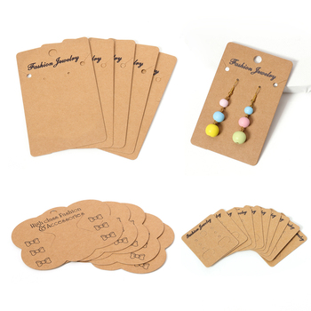 50pcs/lot Earrings and Necklaces Display Cards Cardboard Earring Packaging Hang Tag Card Ear Studs Paper Jewelry Wholesale - discount item  49% OFF Jewelry Packaging & Display