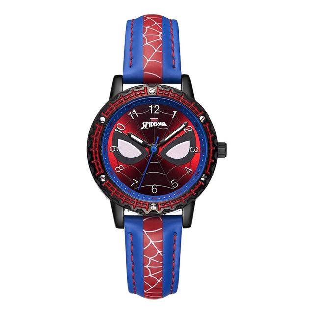 Spider-men Child Super Hero Cool Quartz Waterproof Watch Marvel Avengers Student Clock Time Boys Birthday Gift Kids Time Disney | Fotoflaco.net