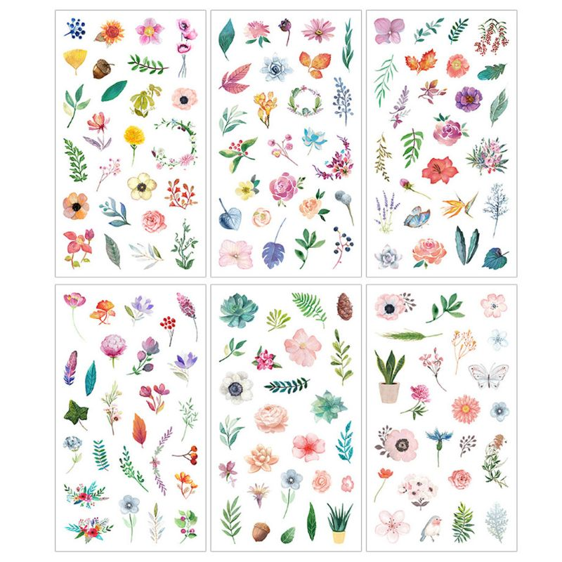 6Pcs Flower Leaves Resin Sticker Epoxy Resin Mold Frame Fillers Material Jewelry