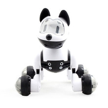 Voice Control Voice Activated Robot Dog Electronic Toy Interactive Doggy Robot Puppy Music LED Eyes Flashing Action Toy