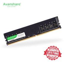 Memória ram ddr4 4gb 8gb 16gb 32gb 2400mhz 2666mhz 3200mhz 288pin garantia de vida de alta velocidade desktop intel amd por avanshare