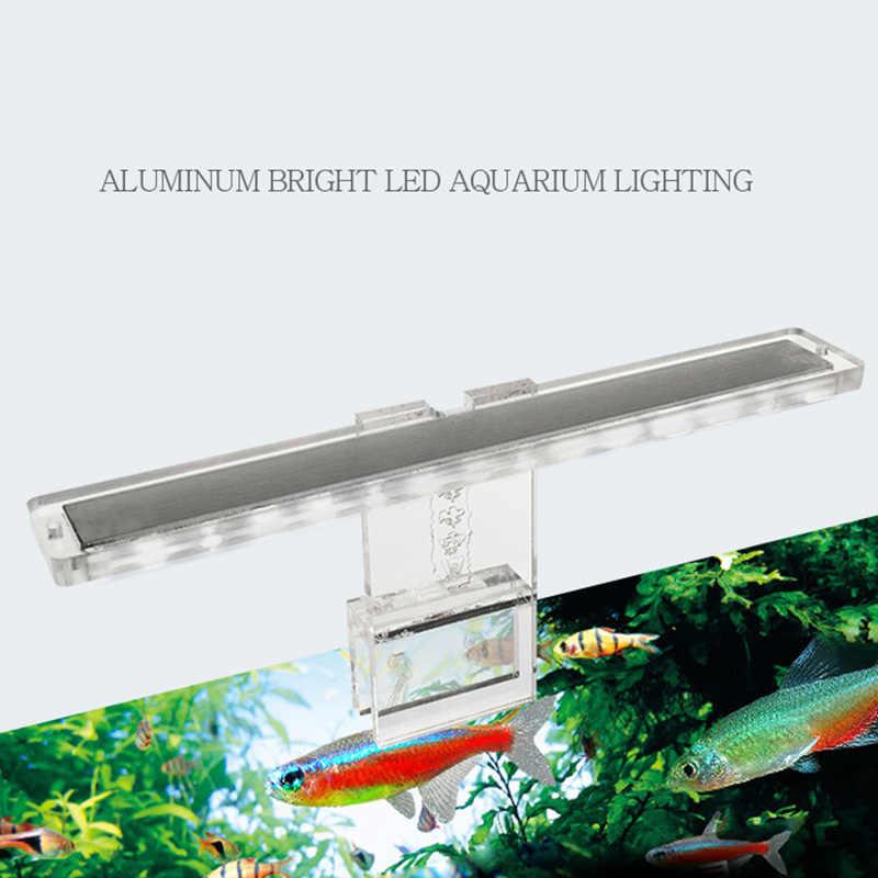 LED lampe d'aquarium plante lumière s'adapte réservoirs 3-8MM épaisseur lampe aquatique Aquarium support lumière JAN88