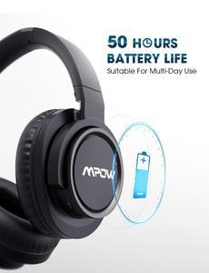 Image 3 - Mpow auriculares inalámbricos H18 con Bluetooth, dispositivo con cancelación activa de ruido, rango de 17m/56 pies y 50 horas de autonomía