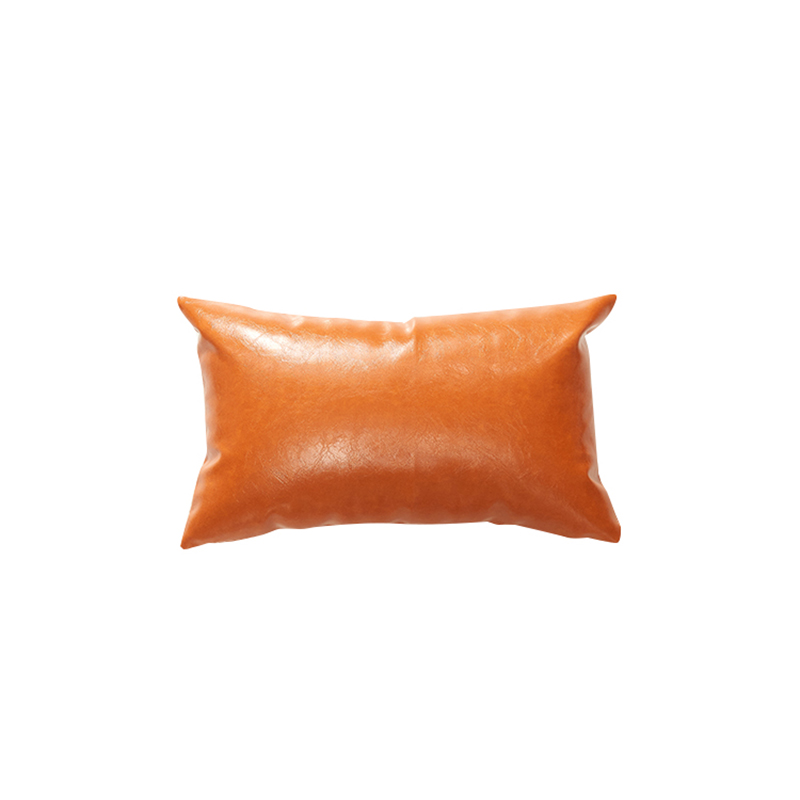 new imitation leather cushion covers 30*50 40*40 45*45 50*50 60*60cm nordic no inner orange coffee cushion <font><b>pillow</b></font> <font><b>cases</b></font> dec X201 image