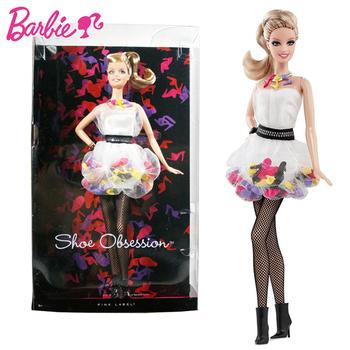 Oryginalne lalki Barbie akcesoria kolekcjonerskie wersja modne lalki dla dziewczynek urodziny dziecka zabawki prezentowe dla dzieci Bonecas Makeup tanie i dobre opinie W3378 cartoon Dıy Toy Edukacyjne Model Film i telewizja Fashion doll Interaktywny lalki NOT EAT 19*9*33CM Moda 1 12 6 lat
