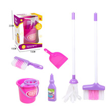Cleaning-Set Toys Broom Educational-Toys Pretend Play Kids Housekeeping with Mop And