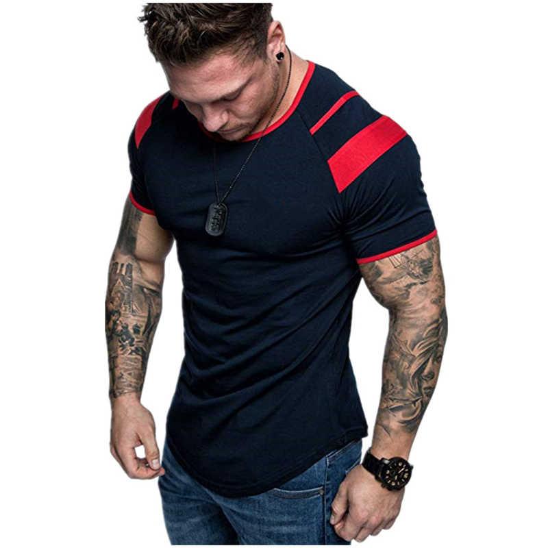 Covrlge Mannen Running Ademend T-shirt Gym Fitness Workout Training Korte Mouwen T-shirts Mannelijke Jogging Slanke Sneldrogende Tee MTS545