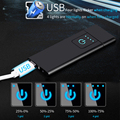 Карманный USB зажигалка электрическая перезаряжаемая Зажигалка электронная беспламенная датчик металла сенсорный экран зажигалки ультрат...