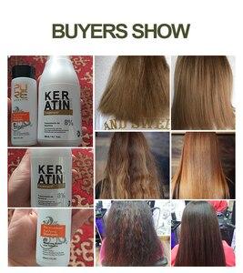 Image 4 - PURC 8% Формалин кератин Бразильский кератин Лечение 100 мл Очищающий Шампунь Уход за волосами делает выпрямление волос сглаживающим