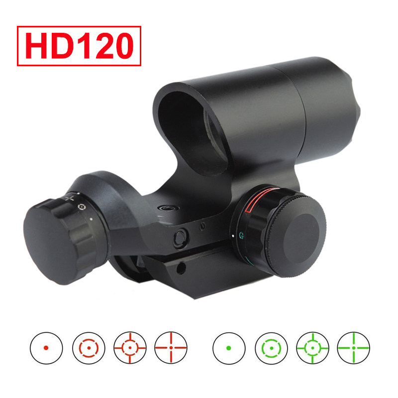 Tactical Airsoft 1x22 Red Dot Scope Green Reflex Sight fits 20mm Picatinny Rail for Rifle Scope Hunting AR 15 Accessories image