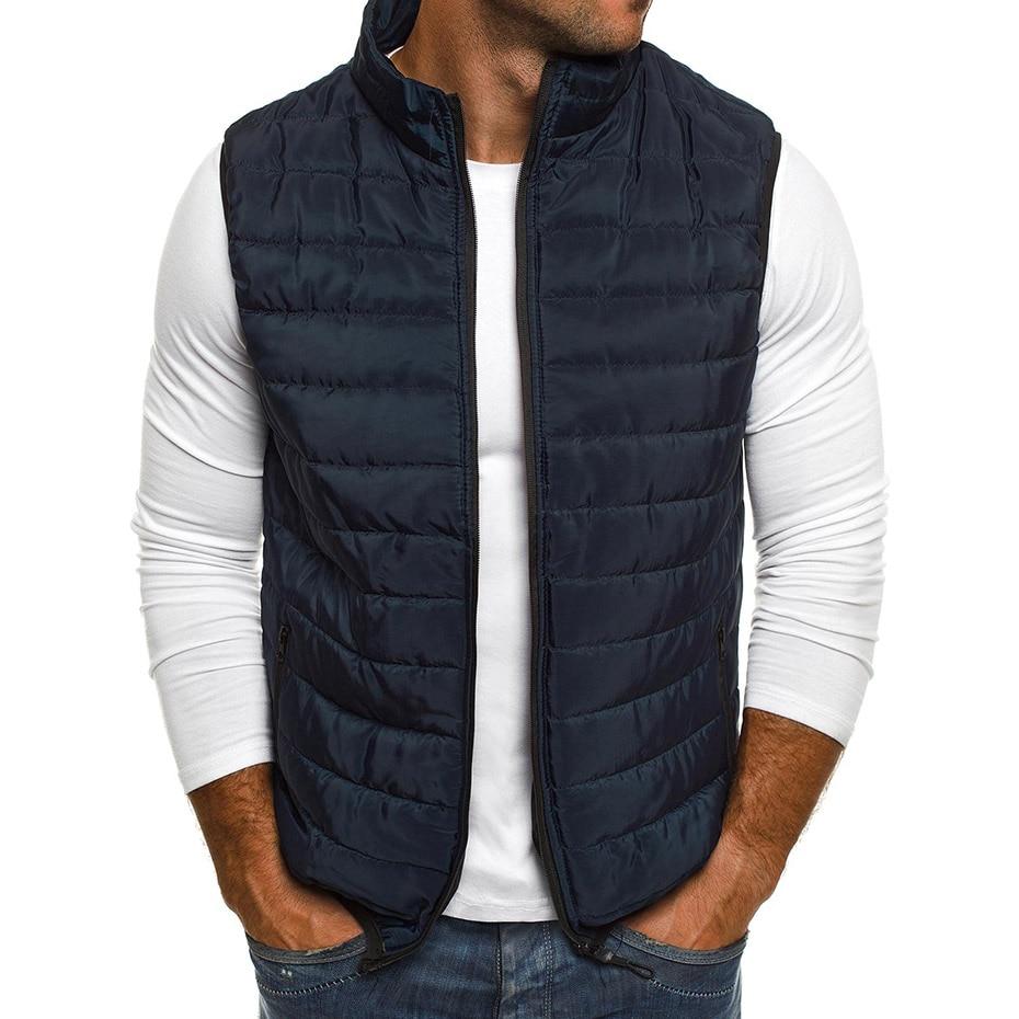 ZOGAA 2020 Mens Vest Casual Outerwear Jacket Vests Coat Men Sleeveless Waistcoat Mens Parka Jackets Zipper Coat Man Clothing