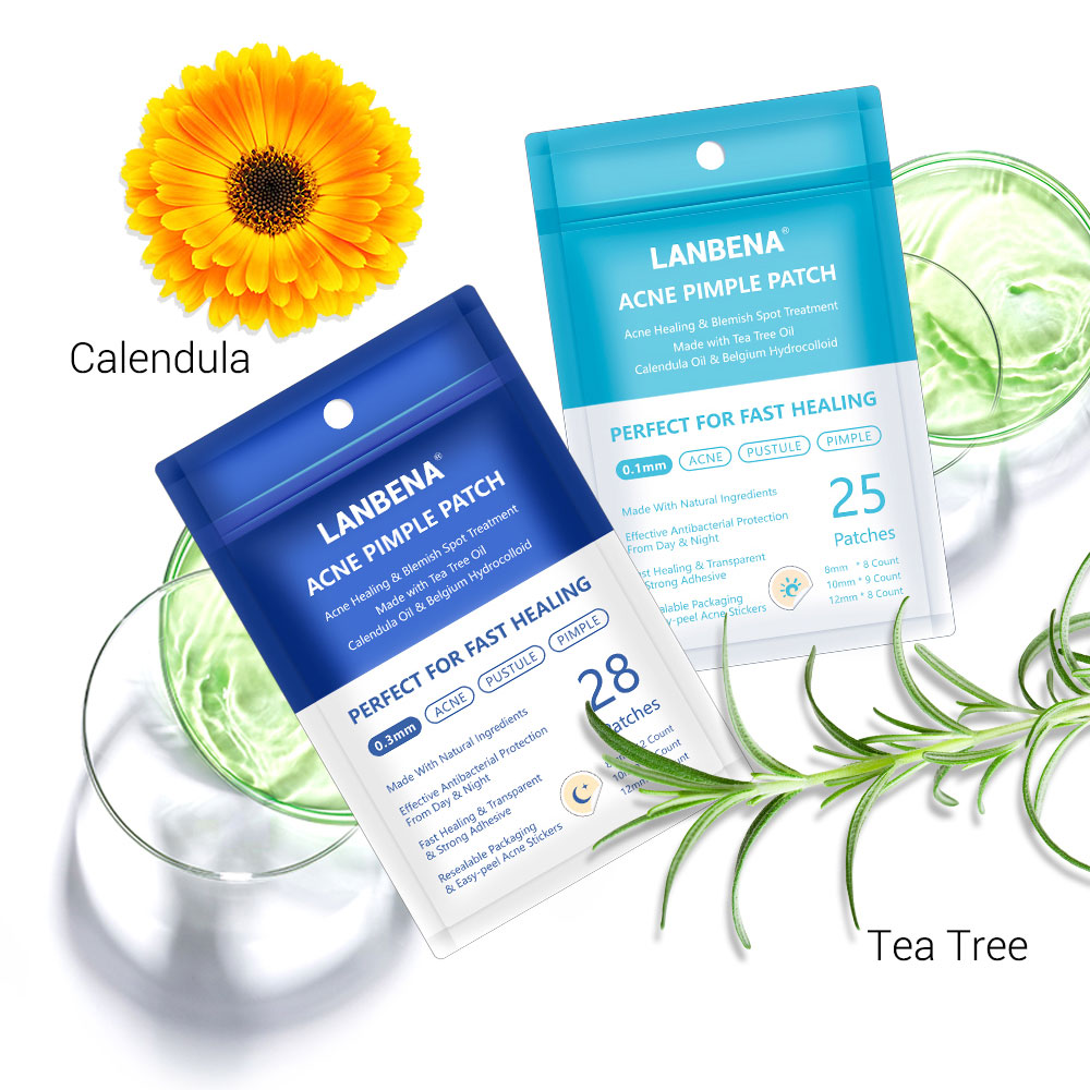LANBENA Day Night Acne Removal Pimple Patch Plant Extract Invisible Stickers Face Spot Scar Care Treatment Pimple Face Skin Care