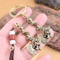 3pcs Brass Panlong Axe Weaving Car Keychain Leading Axe Fortune Key Pendant Small Gift Key Chains Pendant Creative Gift Copper