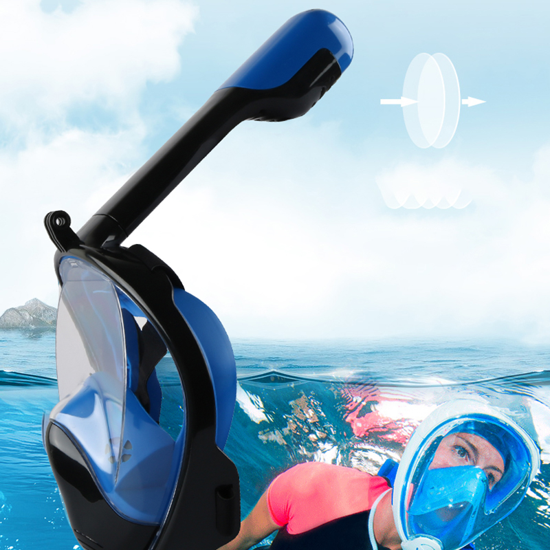 2020 Underwater Scuba Anti Fog Full Face Diving Mask Snorkeling Set Respiratory Masks Safe and Waterproof Swimming Equipment(China)